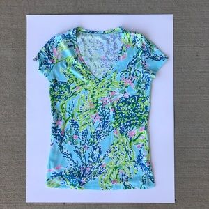 Lilly Pulitzer Michele V-Neck Top *GREAT CONDITION